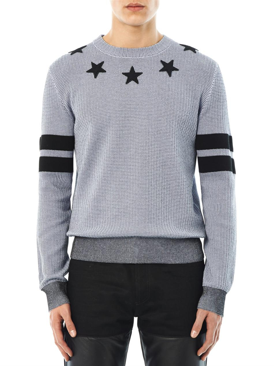Givenchy Stars and Stripes Crewneck Sweater in Gray for Men | Lyst