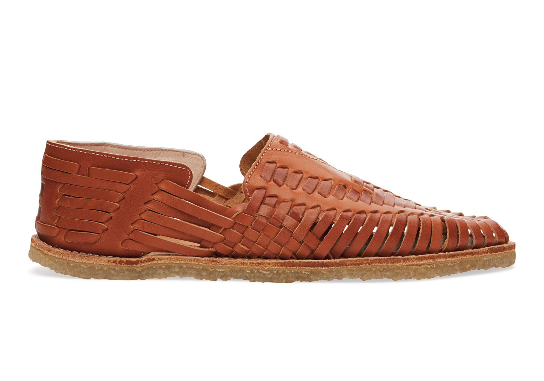 3a0fb198df4d Lyst - TOMS Cognac Full Grain Leather Men s Huaraches in Brown for Men