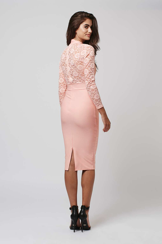 Bodycon long dress topshop sleeve midi newbury street