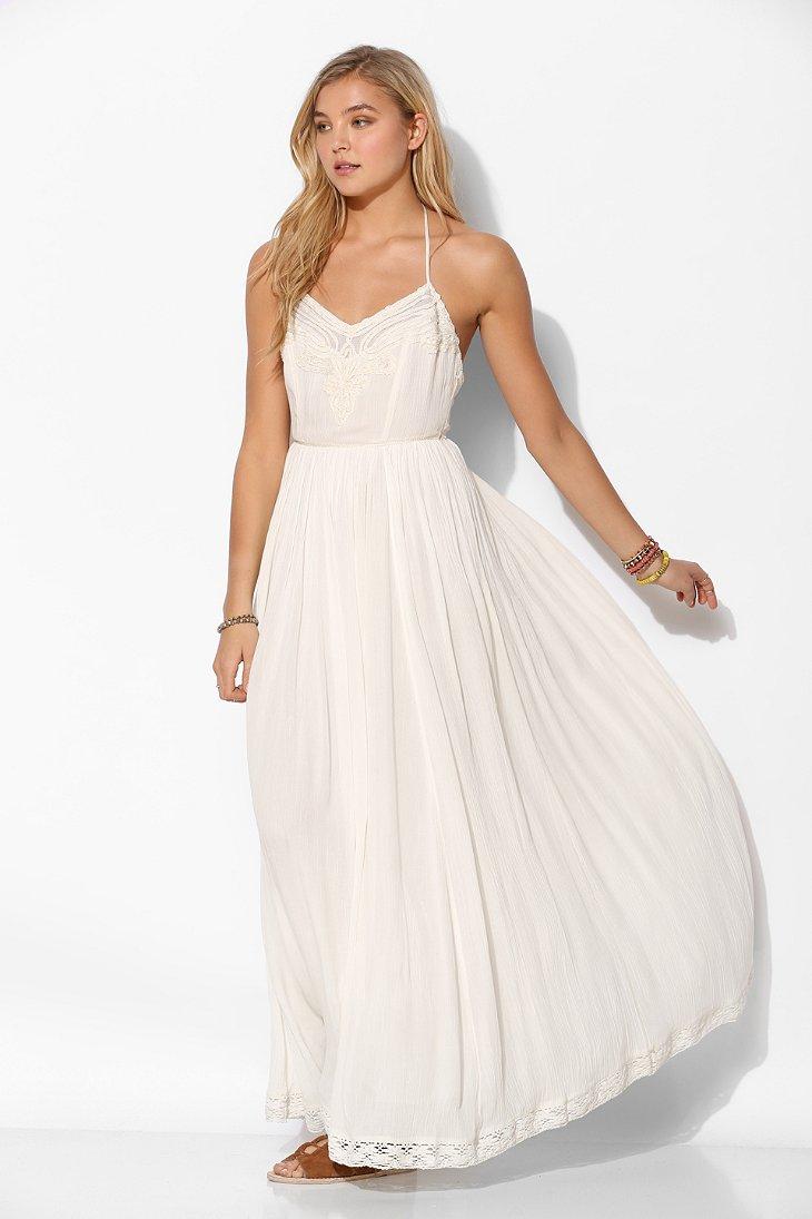 Kimchi blue Dove Crinkle Gauze Maxi Dress in White - Lyst