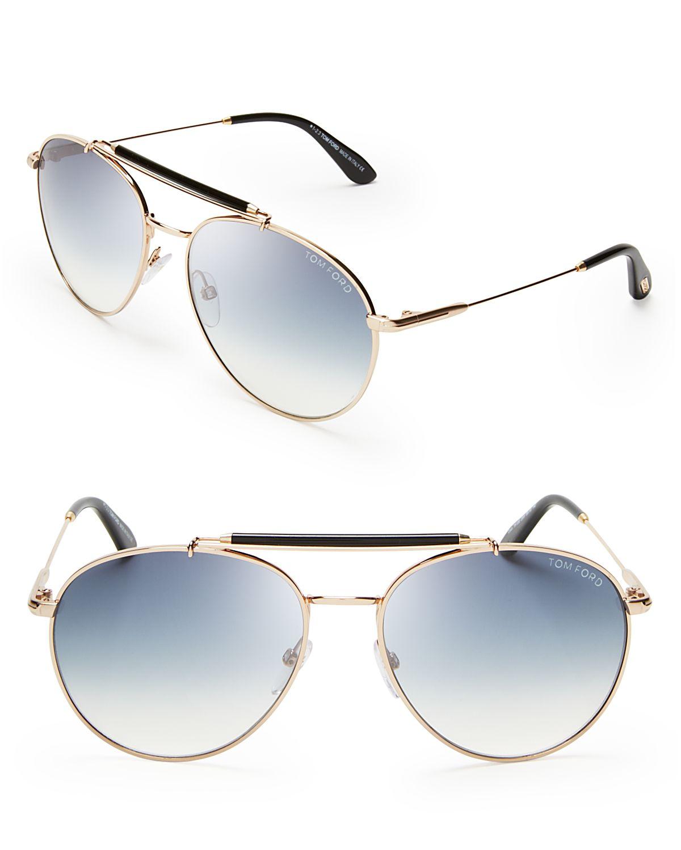 280d32b6b3360 Tom Ford Colin Aviator Sunglasses in Metallic for Men - Lyst
