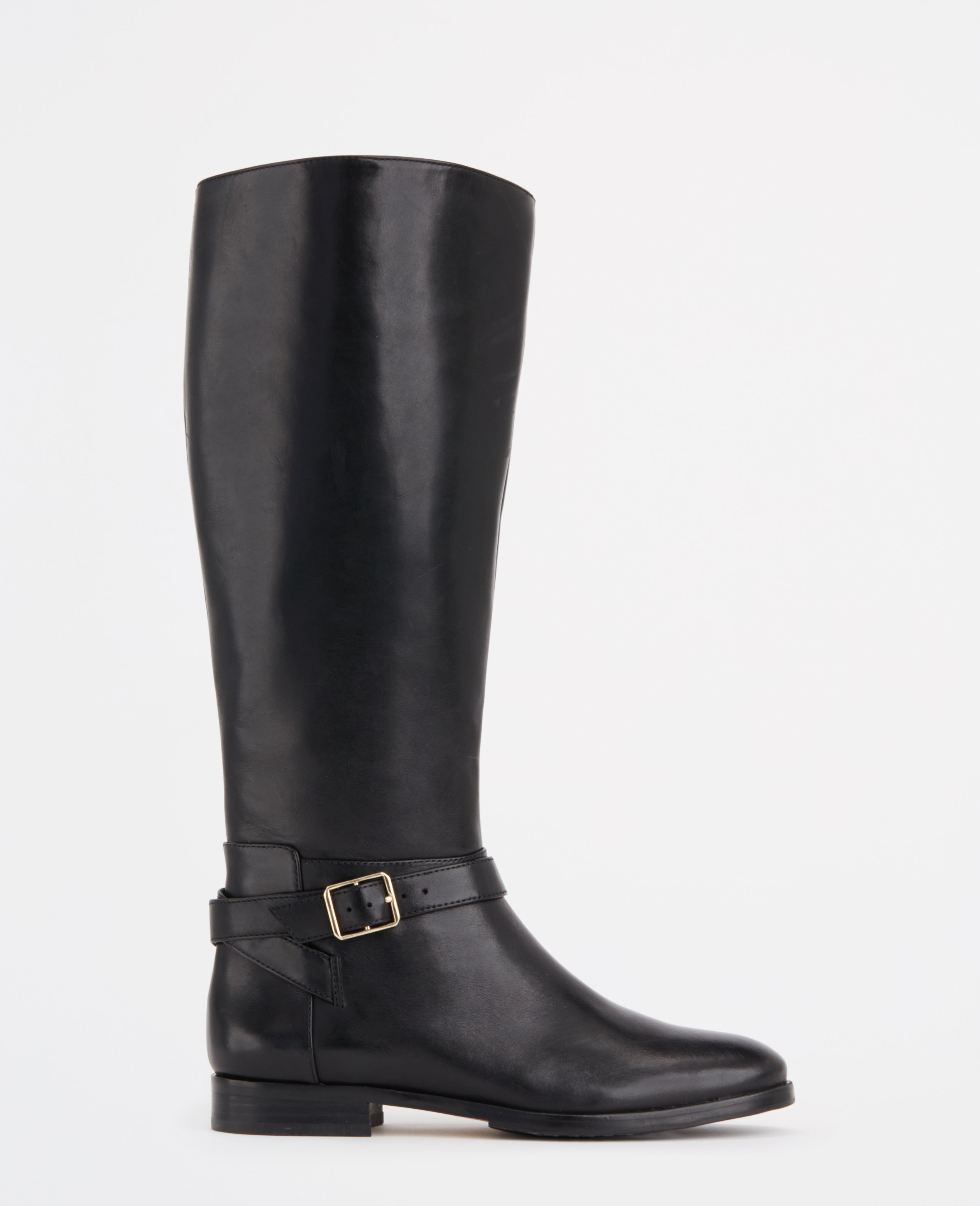 extended calf joni leather boots in