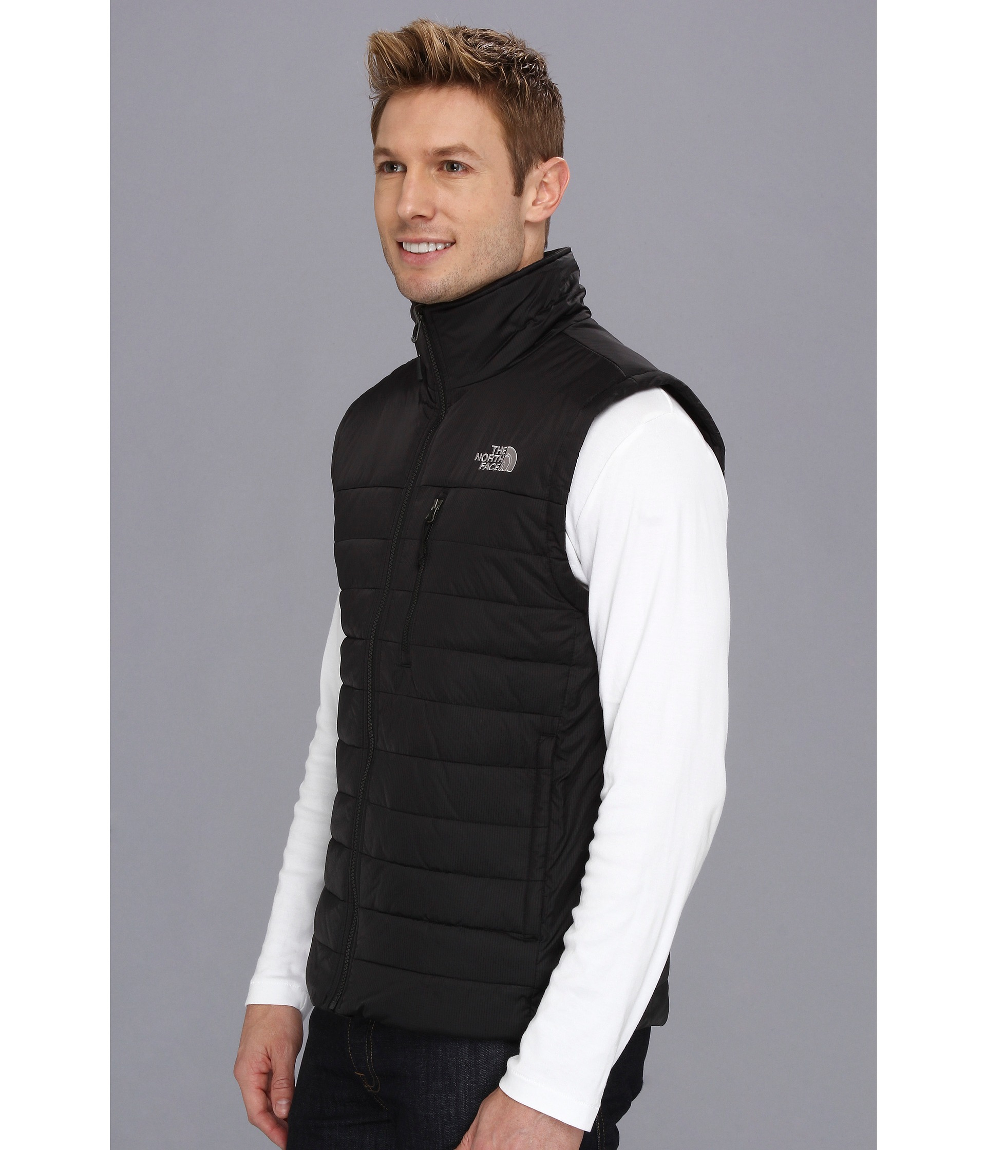 05b6328345 ... The north face Red Blaze Vest in Black for Men Lyst ...