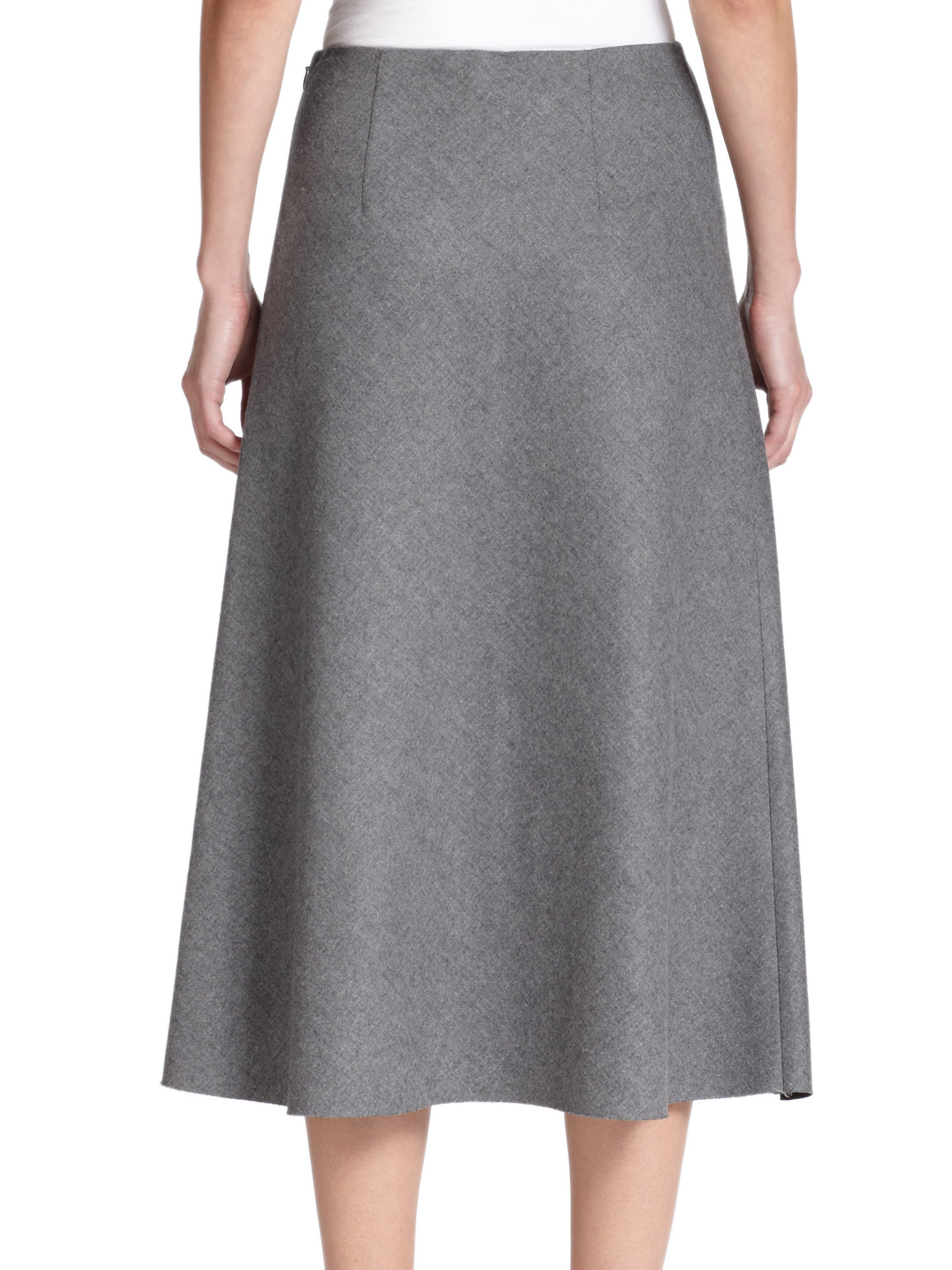 Theory Jaheem Flannel A-Line Skirt in Gray | Lyst