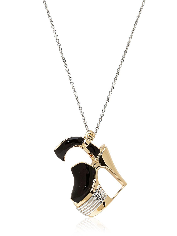 ferragamo miniature preziose necklace in metallic lyst