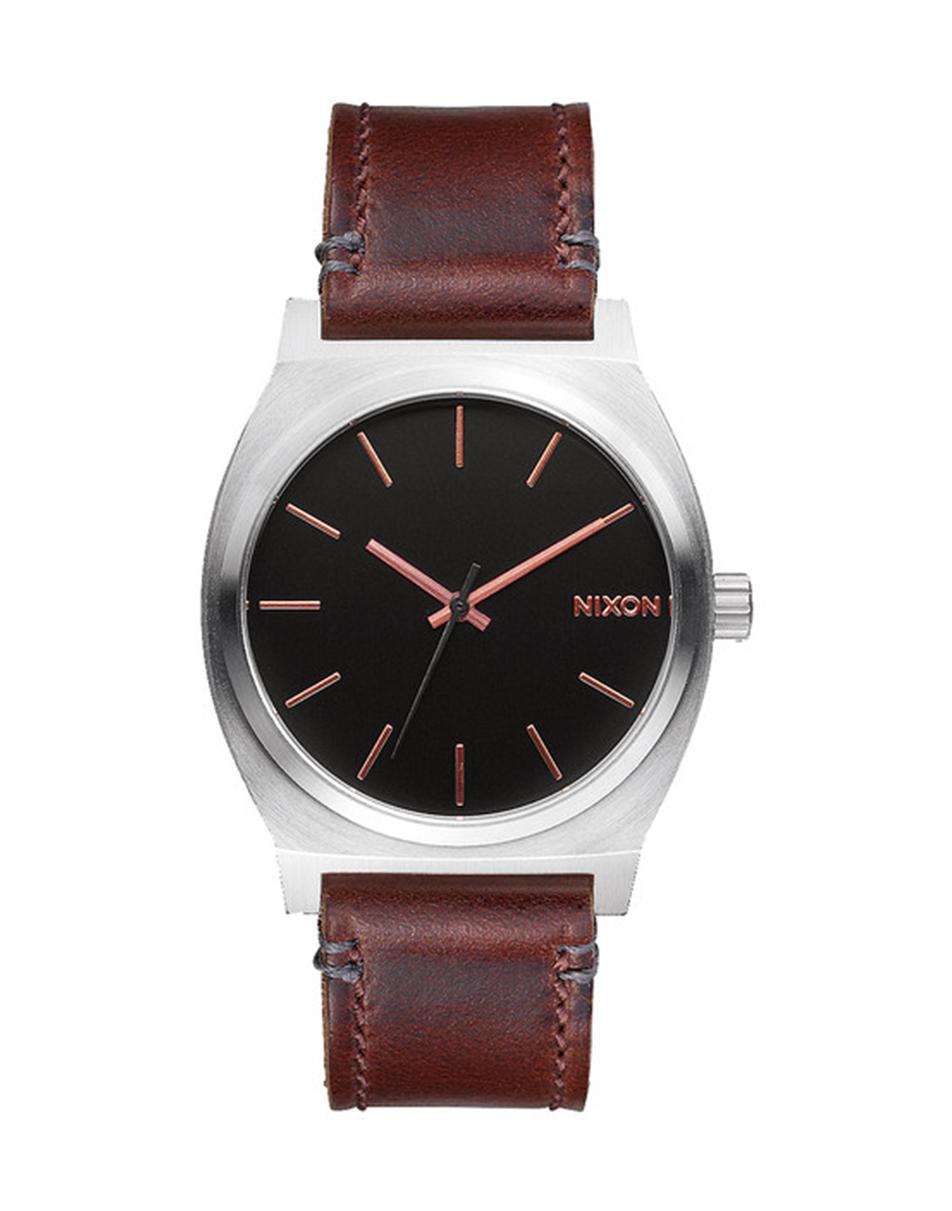 nixon time teller brown in brown for lyst