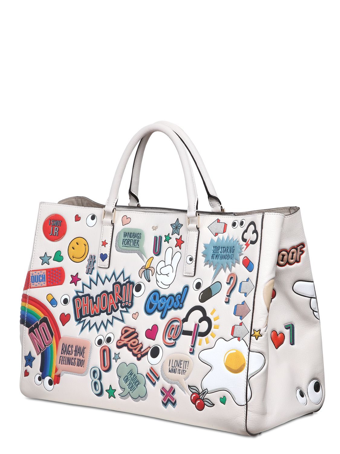 Anya hindmarch Sticker Tote Bag in White