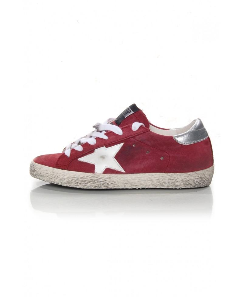 Golden Goose White & Red Superstar Sneakers xUQ9dDqkg
