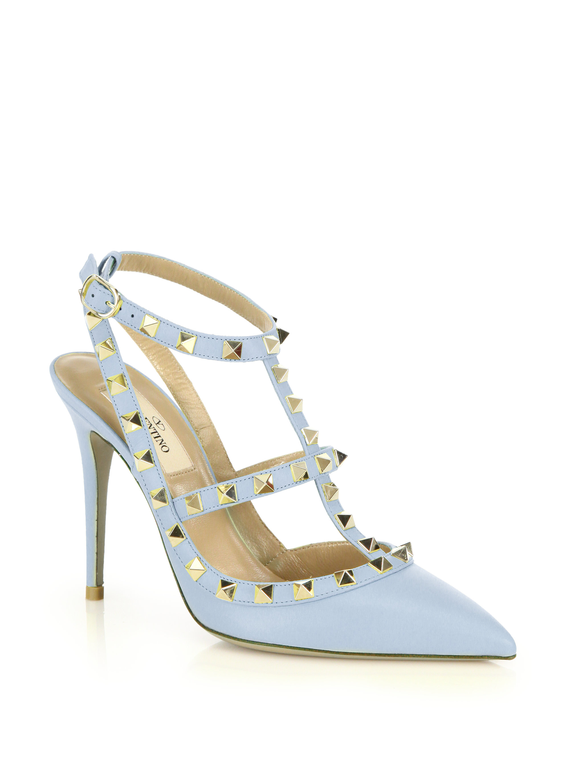 Rockstud ankle strap pumps - Blue Valentino X5tTVUM