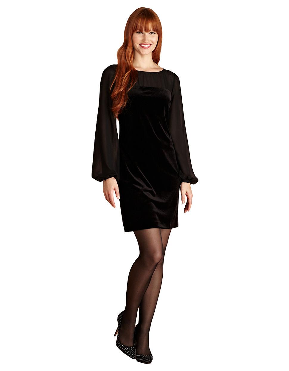 Turmec » donna morgan black dress sequin long sleeve