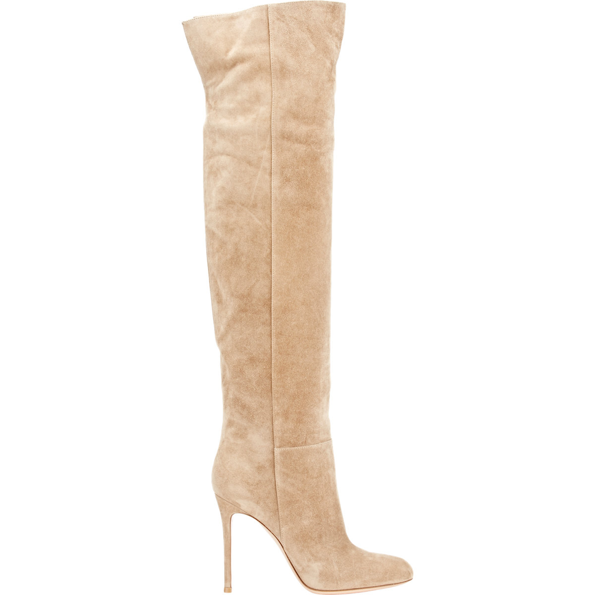 Gianvito rossi Suede Over-the-knee Boots in Natural | Lyst