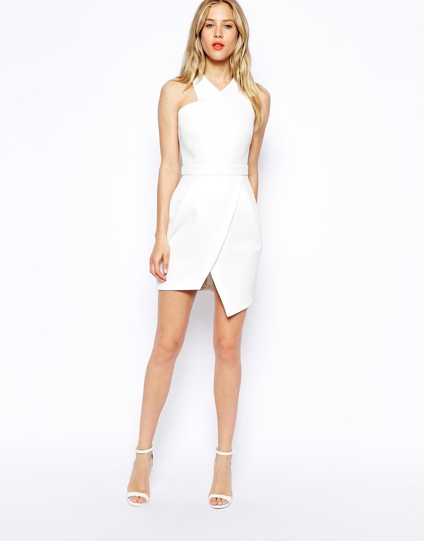 Asos Asymmetric Dress With Step Hem in Pink | Lyst