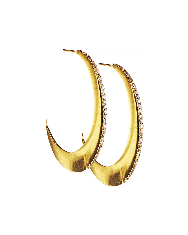 Lana Jewelry Small Flawless Crescent Earrings with Diamonds gBL9zOckn