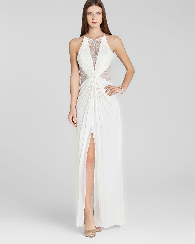6c60942101e1 ... Colorblock Black White Cutout Evening Gown. Gallery. Bcbgmaxazria Bcbg  Max Azria Gown Maxine In White Lyst