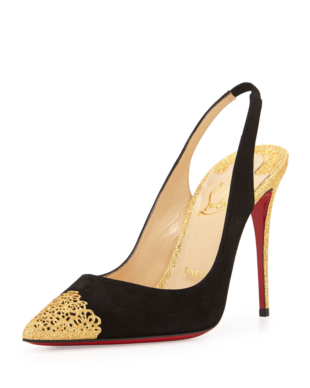 christian louboutin metallic slingback sandals | cosmetics digital ...