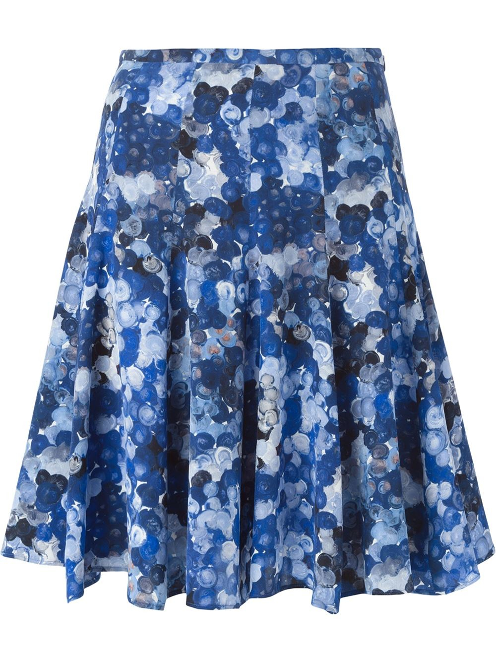 cacharel flared print skirt in blue lyst