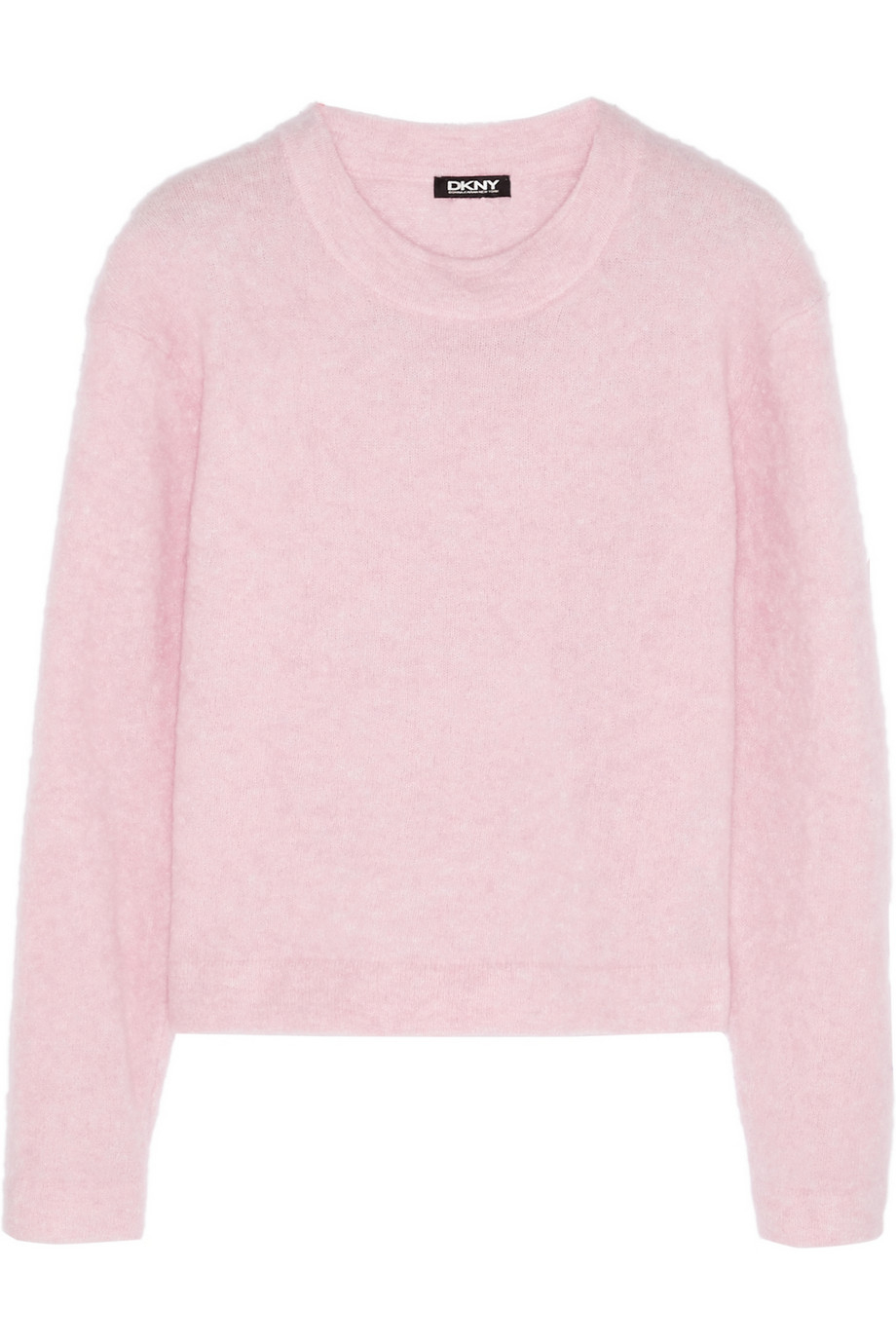 Dkny Cropped Knitted Sweater in Pink   Lyst