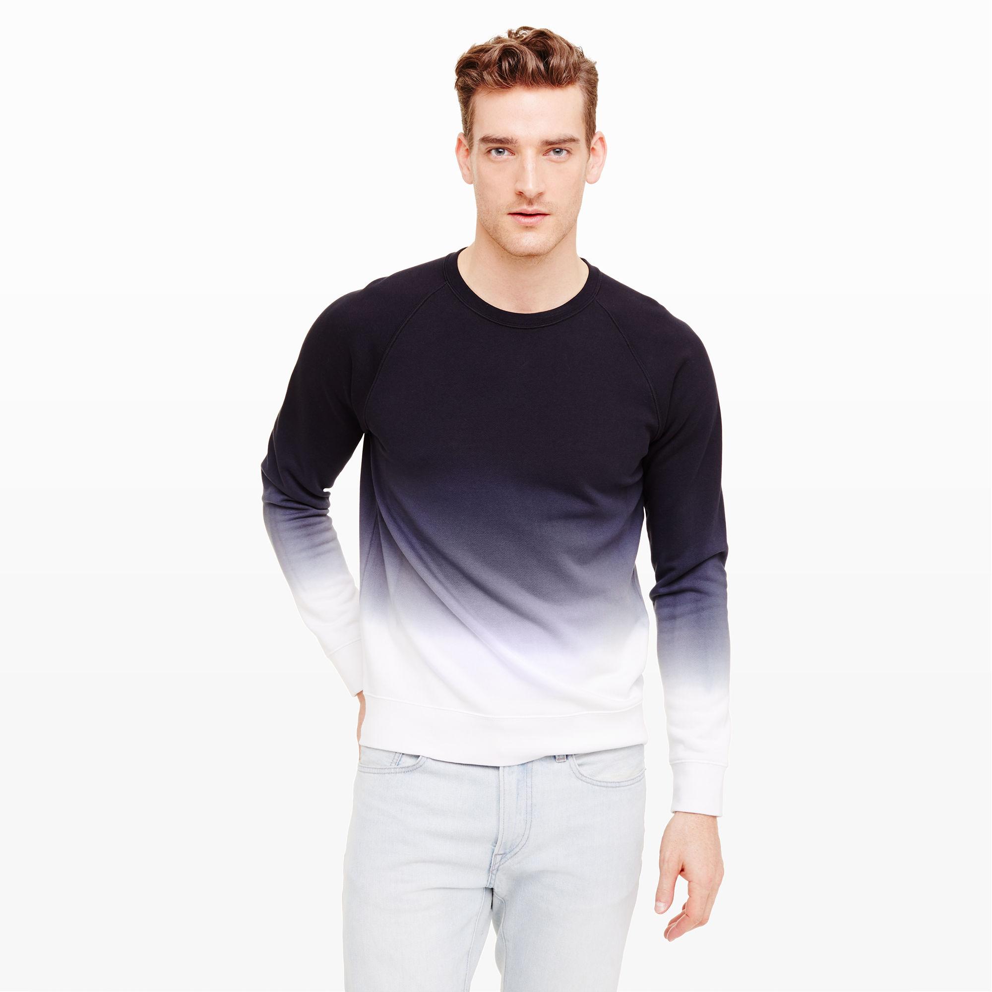 Club monaco Ombré Crewneck Sweatshirt in Black for Men   Lyst