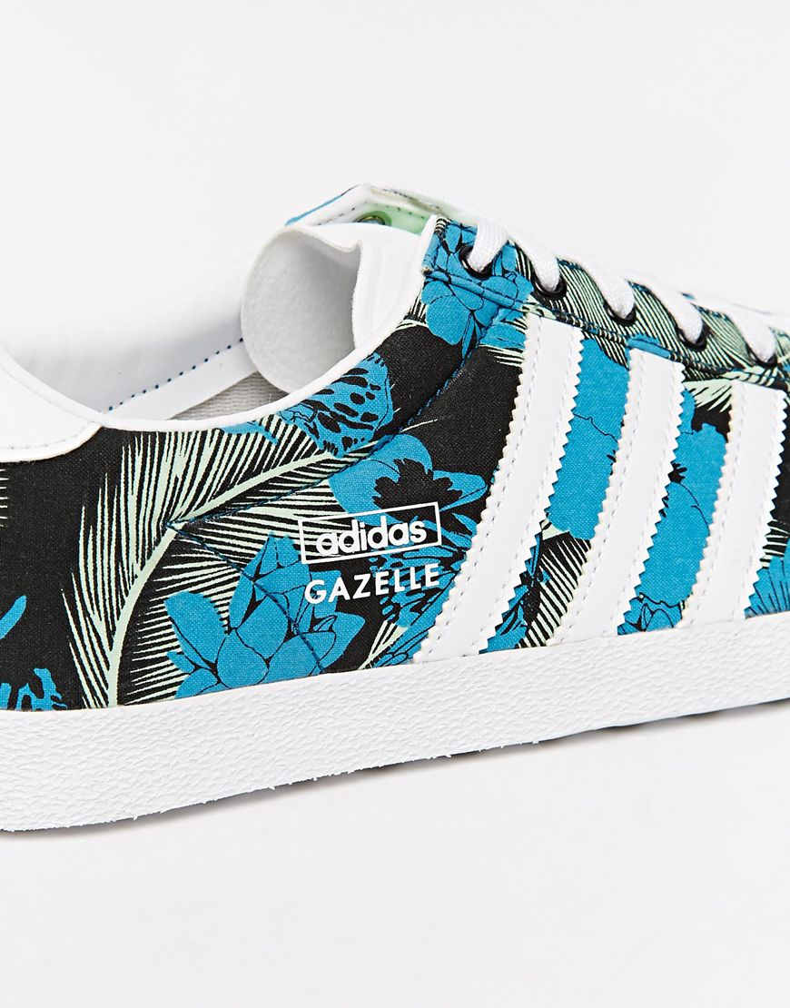 Adidas Gazelle Floral Print Trainers