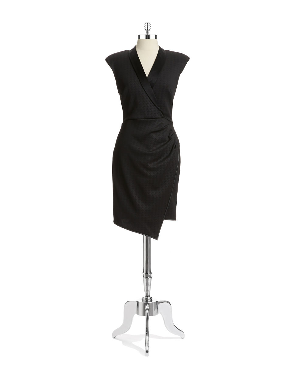 715d79c7e8d Lyst - Abs By Allen Schwartz Wrap Front Dress in Black