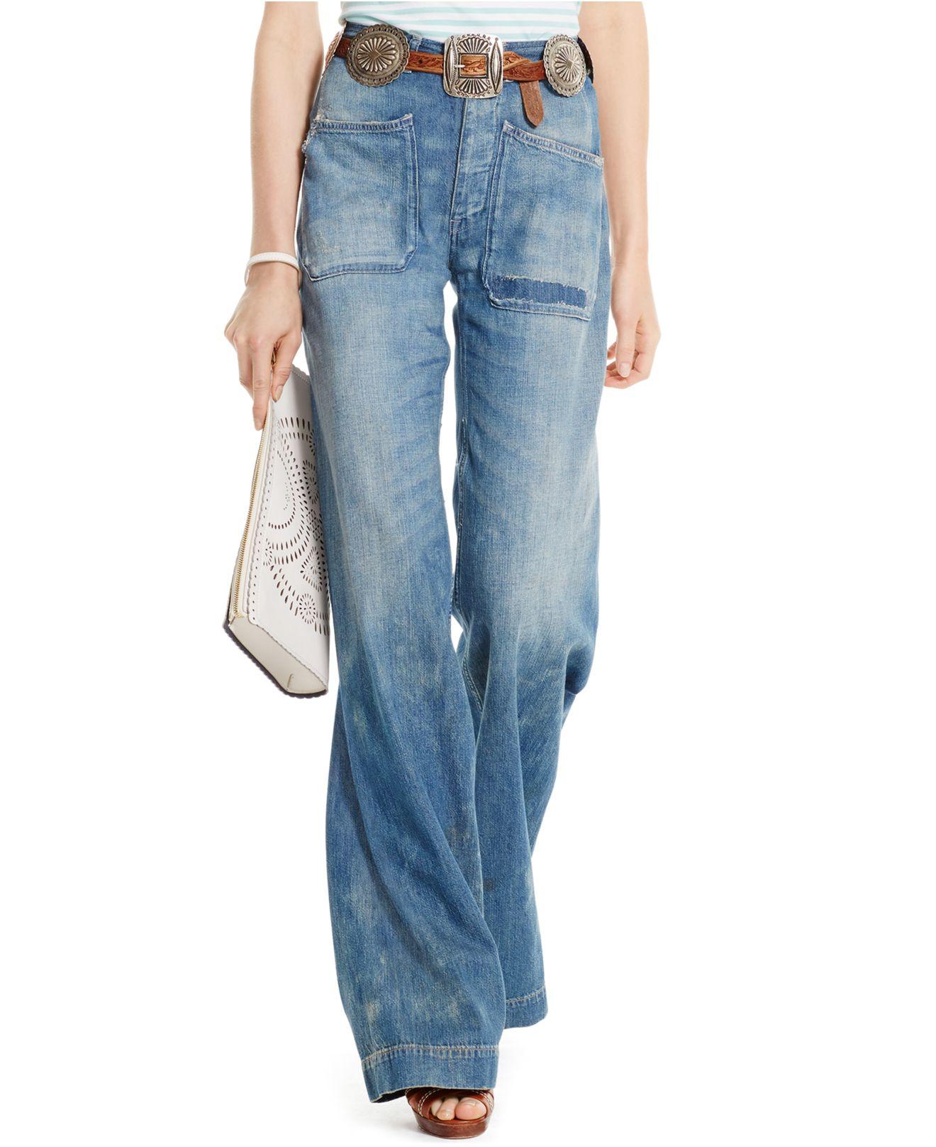 Polo ralph lauren Wide-leg Jeans in Blue | Lyst