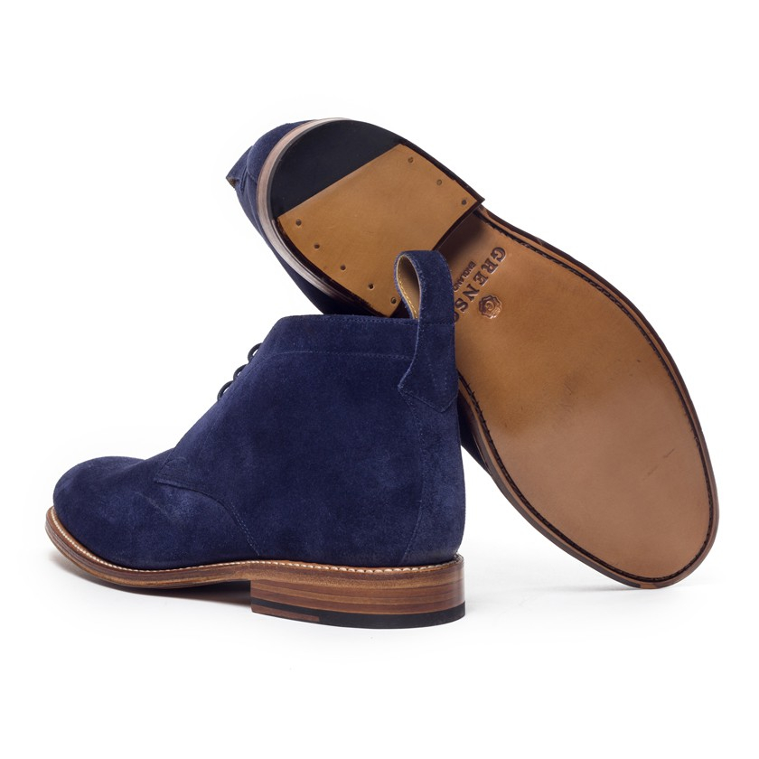 Foot the coacher Blue Suede Marcus Chukka Boots in Blue ...