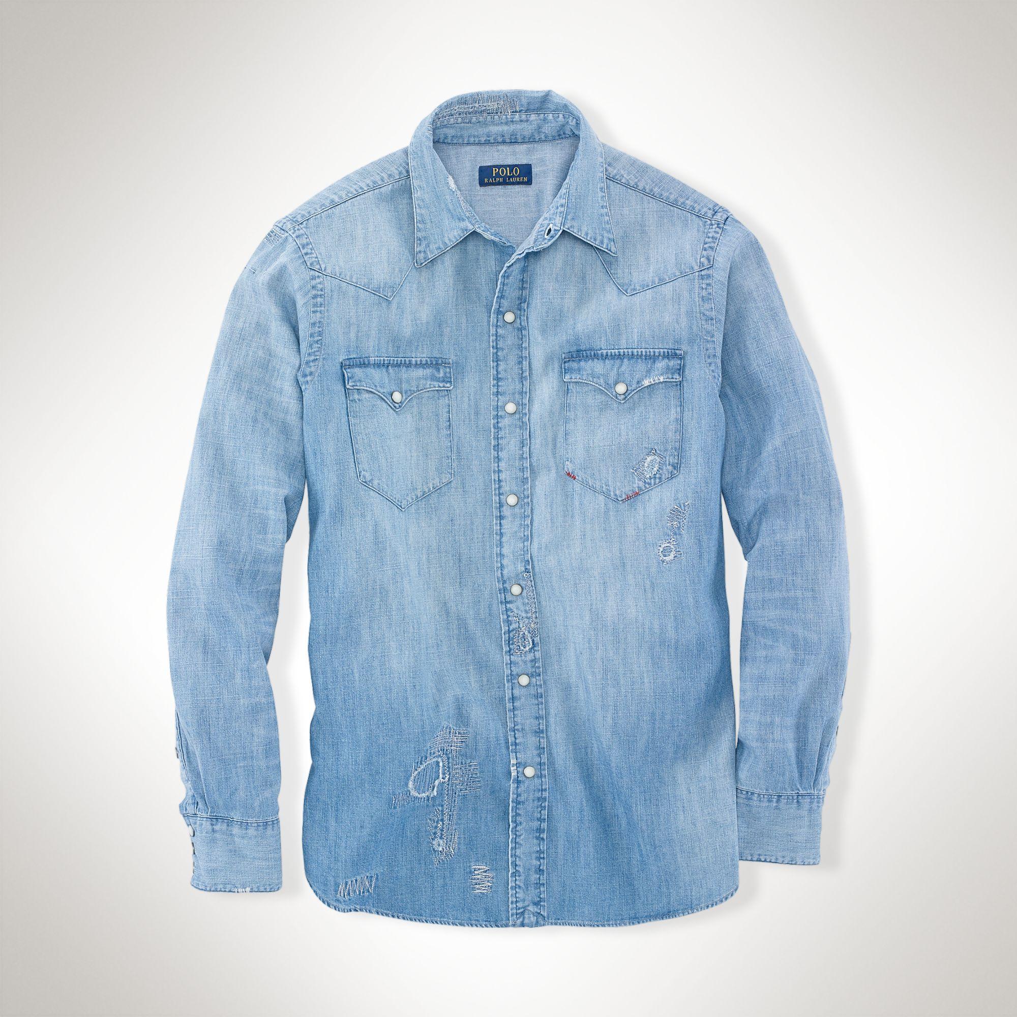 Denim Western Ralph Classic Shirt Polo Lauren Tl13JFKc