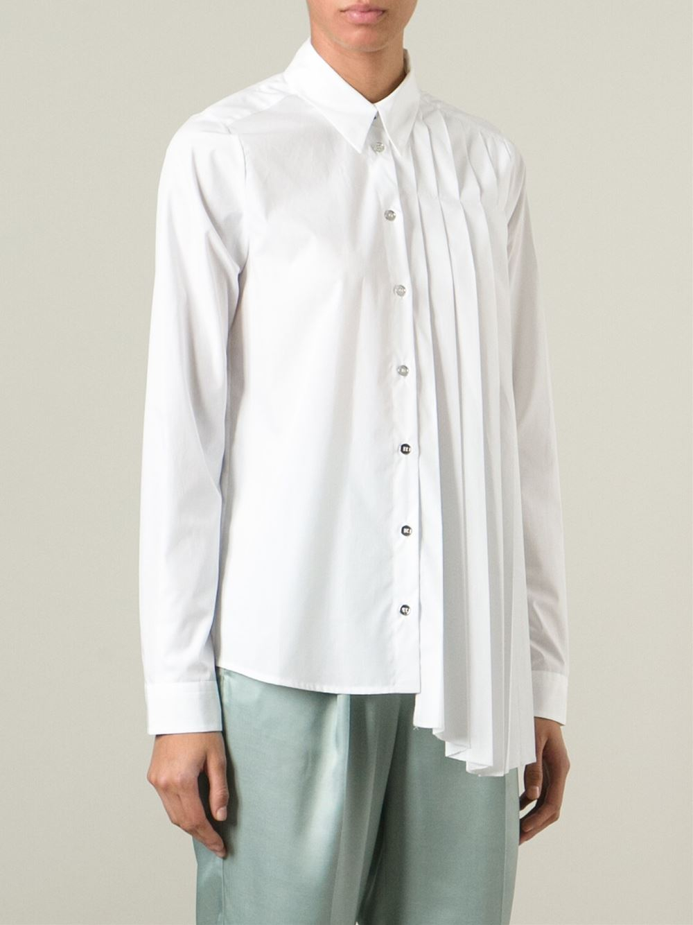 lyst mm6 by maison martin margiela asymmetric pleated