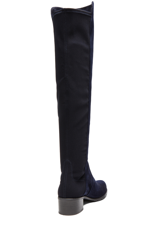 stuart weitzman reserve stretch suede neoprene boots in