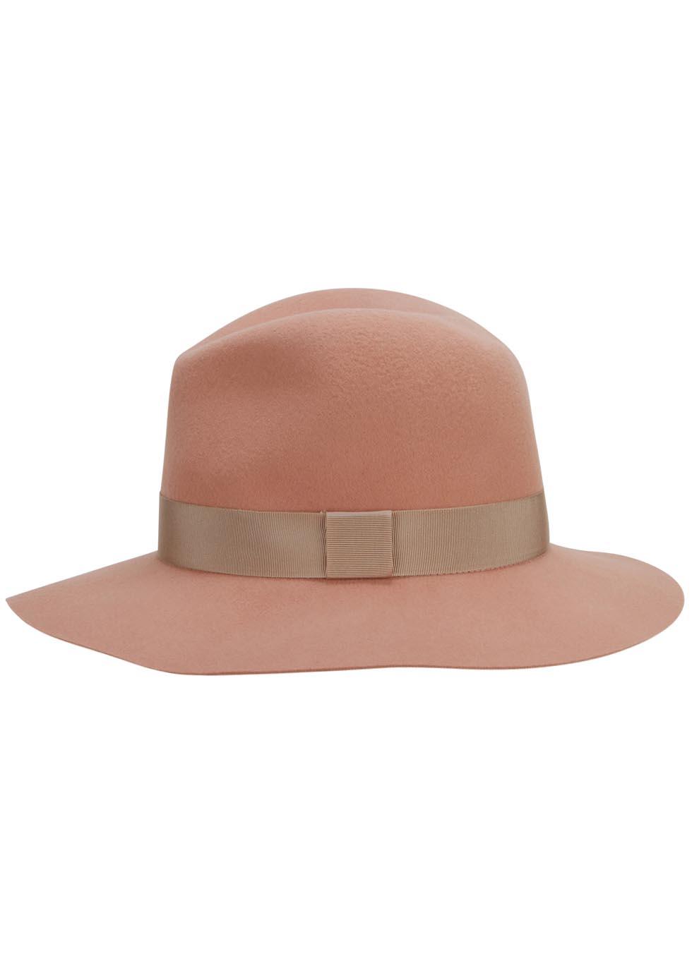 50d688416a0a0 Rag   Bone Light Pink Floppy Brim Felt Fedora in Brown - Lyst