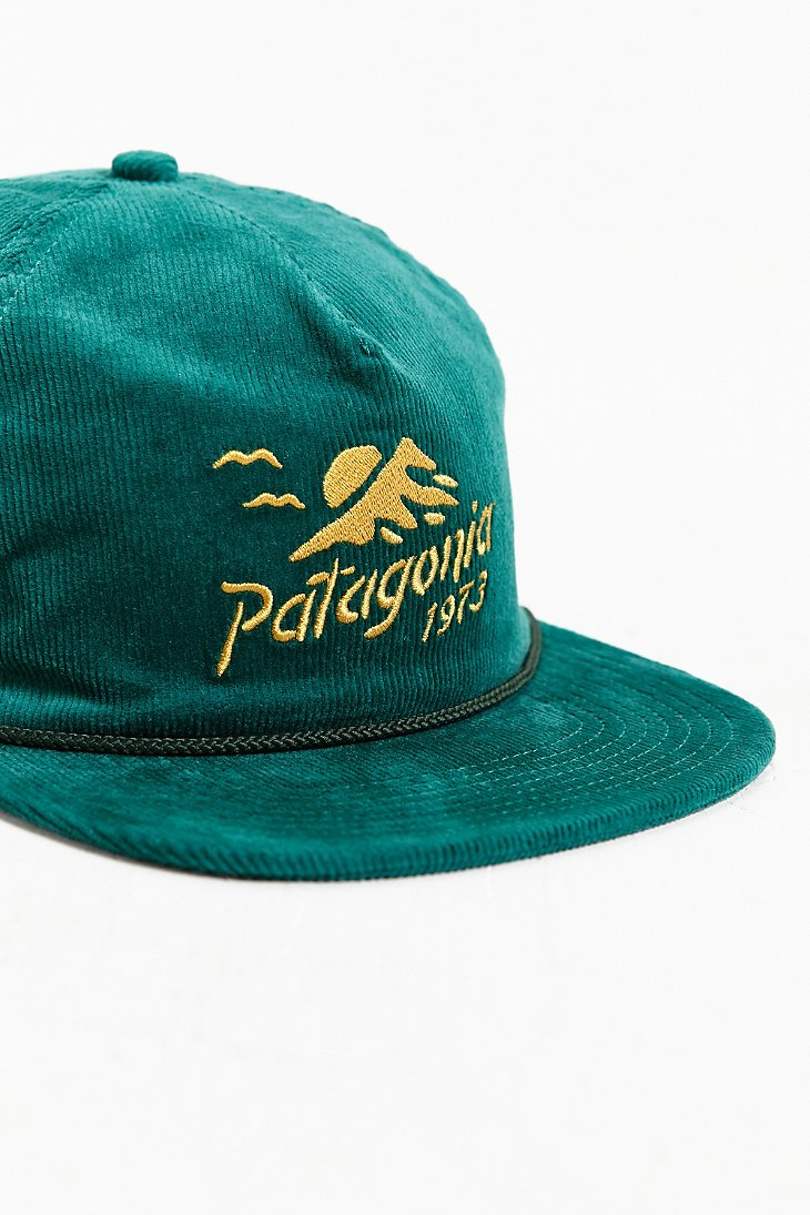 Lyst - Patagonia Corduroy Strapback Hat in Green 753d2dee557