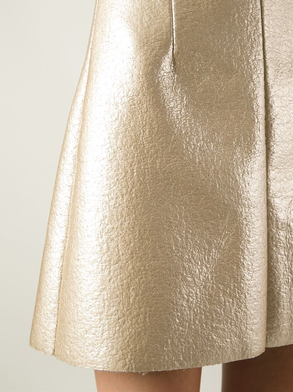 Msgm A-Line Skirt in Metallic | Lyst
