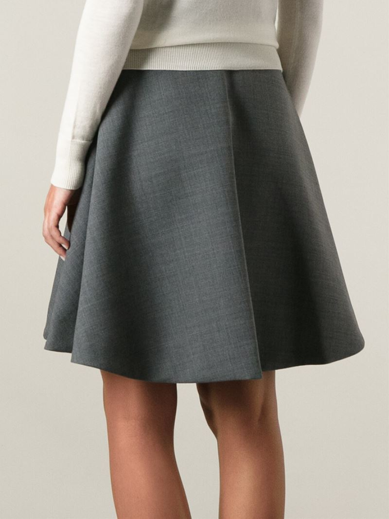 Marc by marc jacobs 'wallye' Flared Skirt in Gray | Lyst