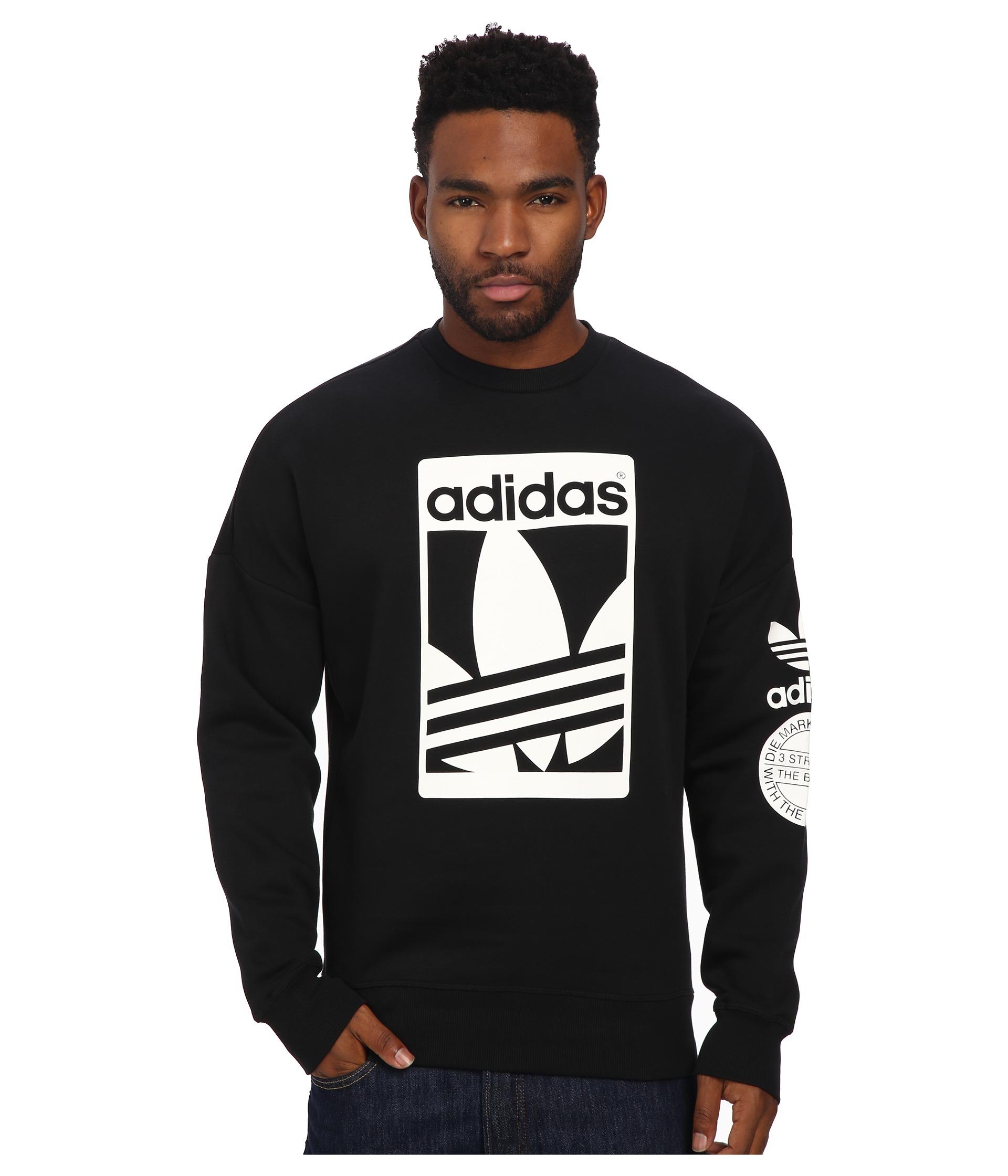 Adidas Originals Black Street Graphic Crew for men