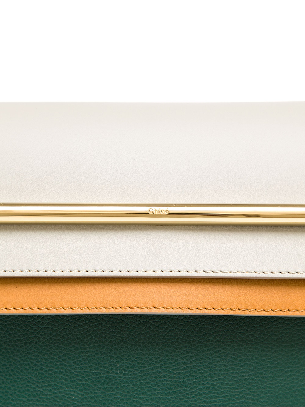 Chlo¨¦ Clare Contrasting Leather Handbag in Green | Lyst