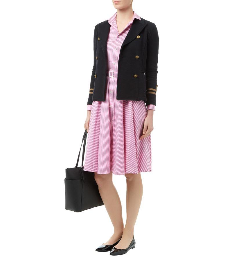 29796c6d040 Polo Ralph Lauren Dori Stripe Shirt Dress in Pink - Lyst
