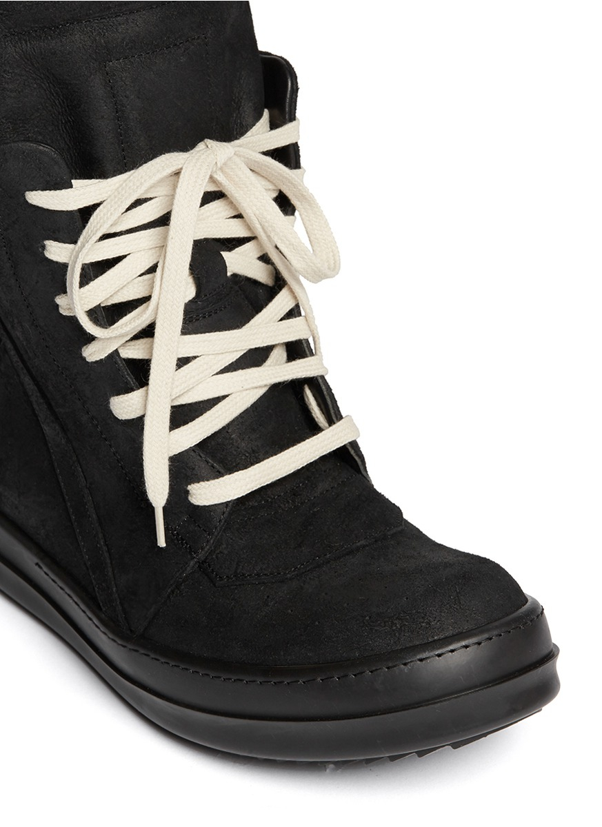 Geobasket high-top suede trainers Rick Owens 1nWuEh8S9