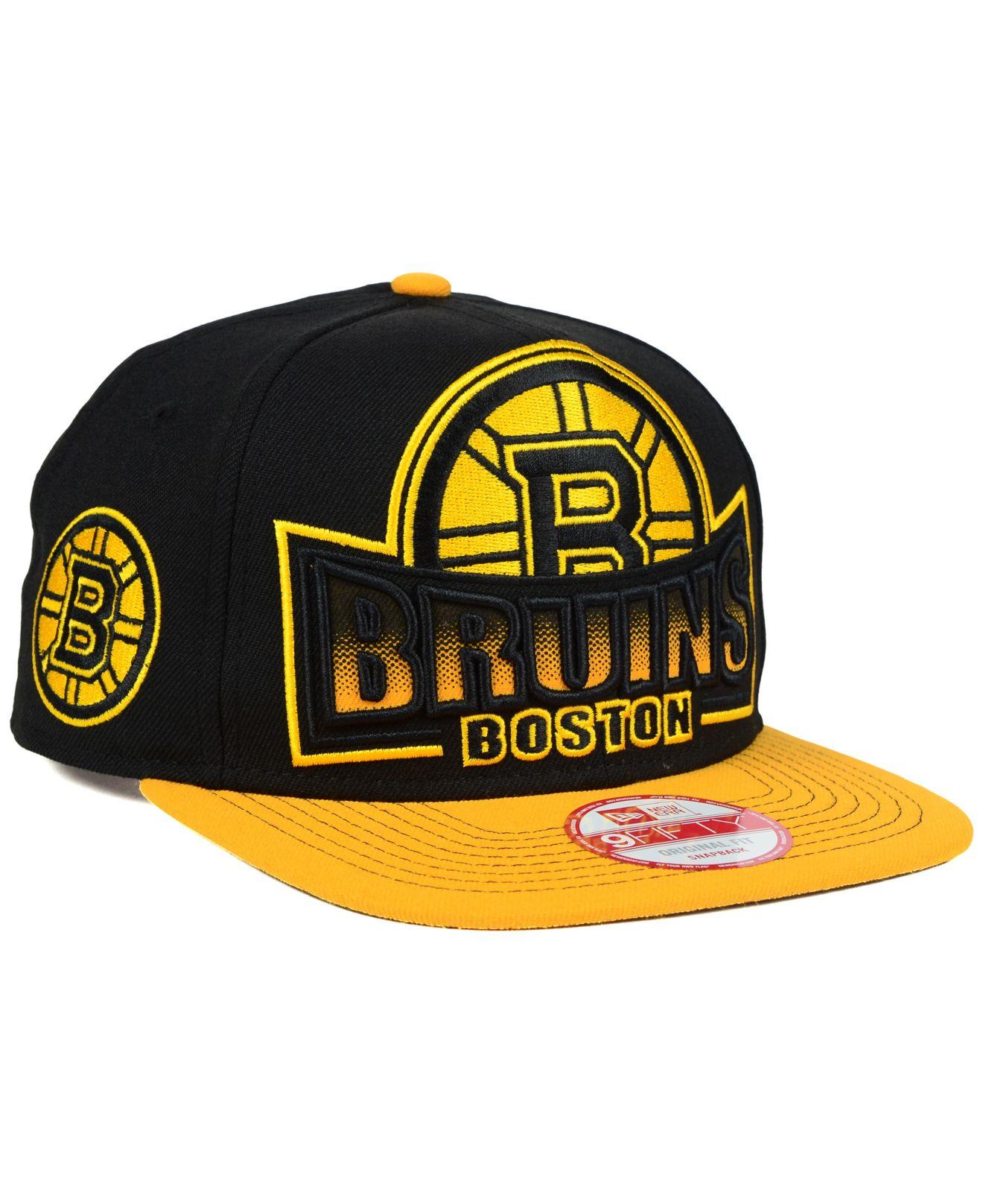 d331120ac36 Lyst - Ktz Boston Bruins Grader 9fifty Snapback Cap in Black for Men
