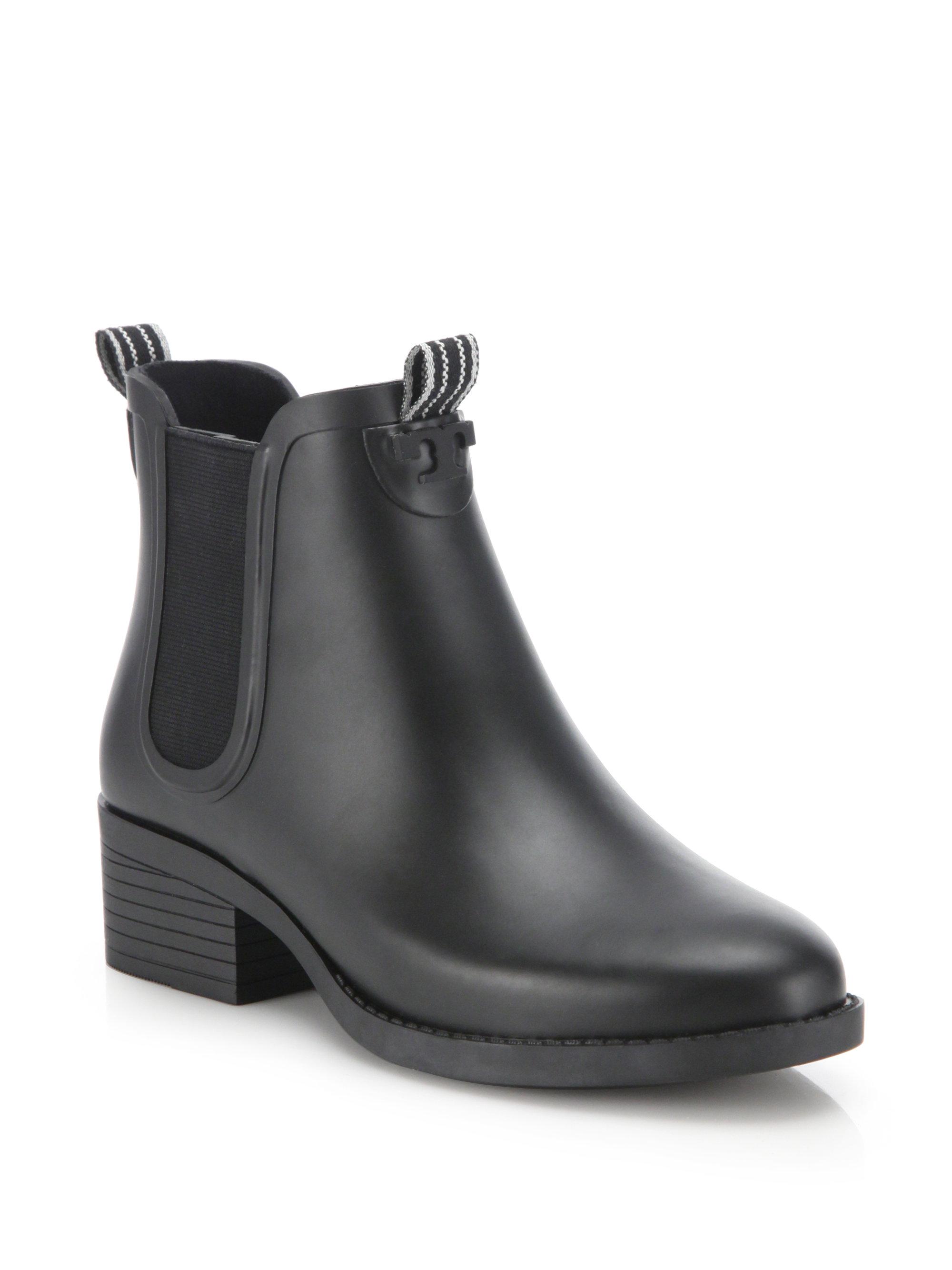 5993d177a49 Lyst - Tory Burch Classic Rain Bootie in Black