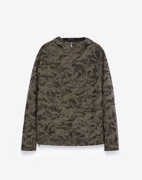 Zara Camouflage Print Jacket Camouflage Print Jacket In