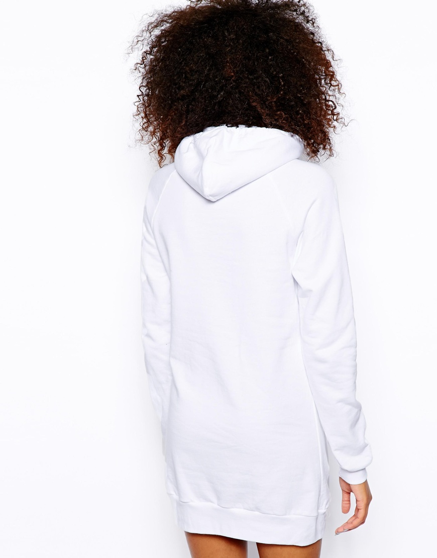 Lyst - American Apparel Hooded Sweatshirt Dress in White ede4f90c92