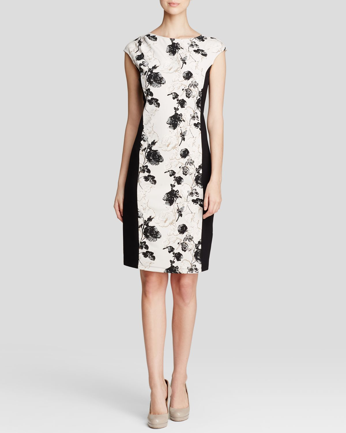 03825a7c476 Weekend by Maxmara Dress - Fionda Stretch Floral Print in Natural - Lyst