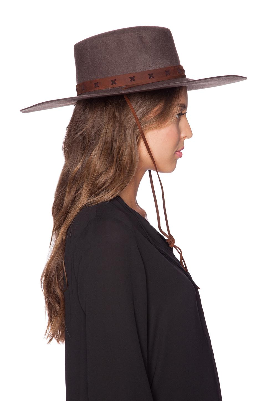 discount brixton womens vega hat brown 141bf 1855e  amazon lyst brixton  vega hat in brown b5478 14fec 6ca31a7aaf52