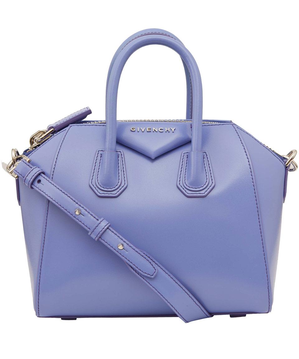 88fe5bdbf0 Lyst - Givenchy Small Light Blue Antigona Leather Bag in Blue