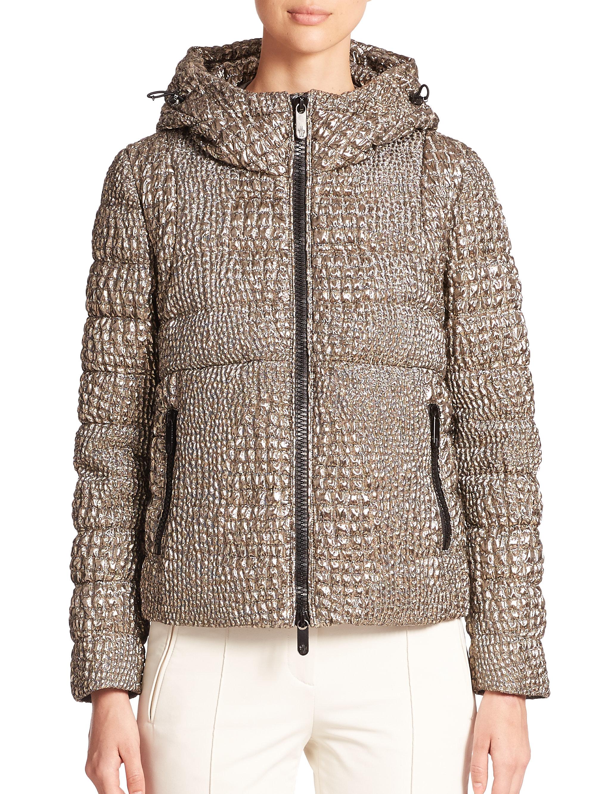 moncler jacket gold