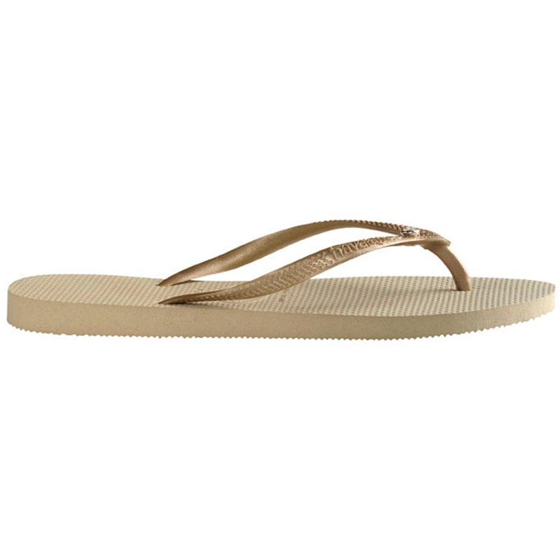 fb422f3c23bc1 Havaianas Glamour Jewel Detail Rubber Flip Flops in Natural - Lyst
