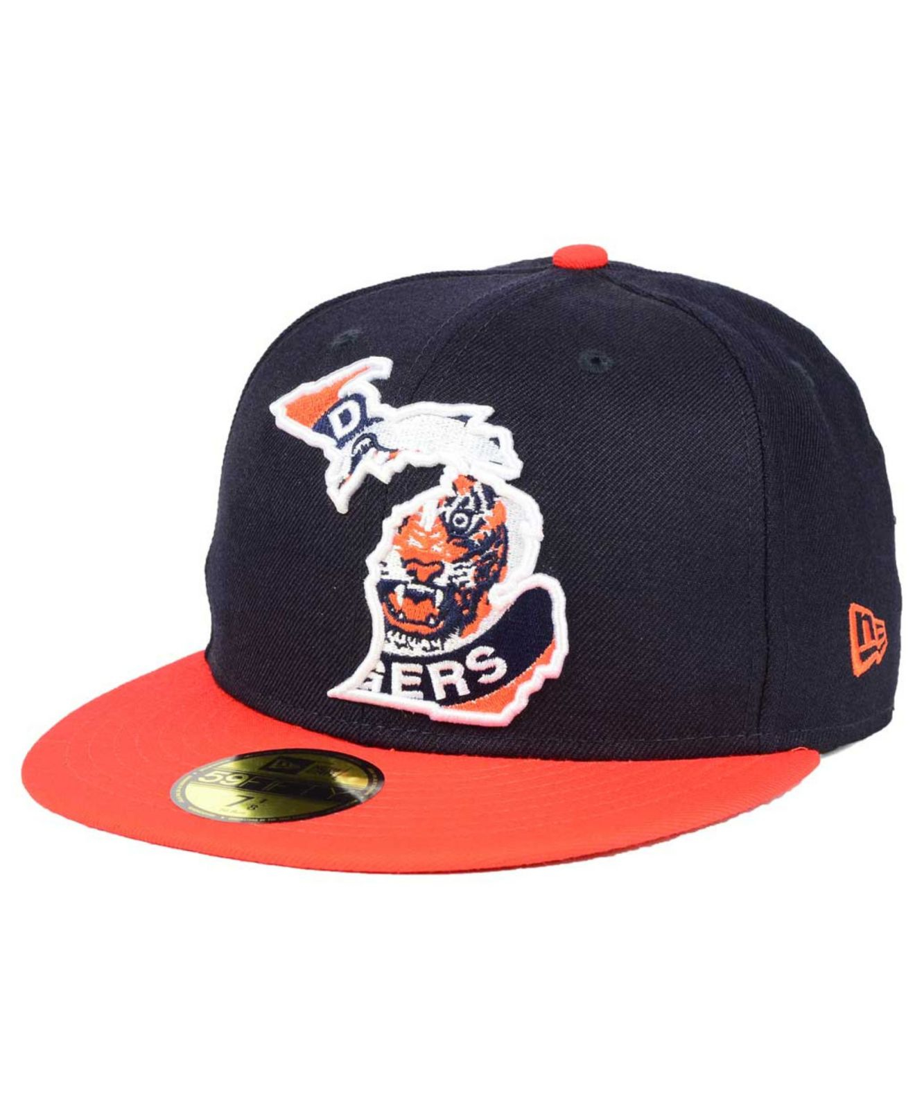 low priced bc378 5e980 ... cheap shopping lyst ktz detroit tigers big state 59fifty cap in blue  for men 1c072 628a0