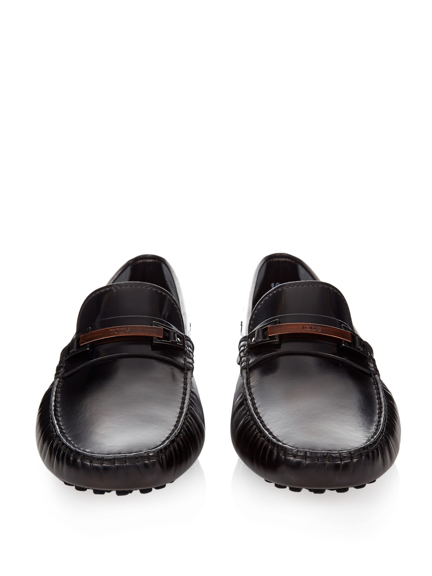 Lyst - Tod's Gommino Leather Driving Shoes in Black for Men