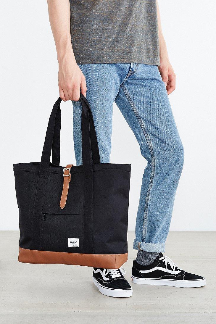 c979171d1 Herschel Supply Co. Market Contrast Bottom Xl Tote Bag in Brown - Lyst