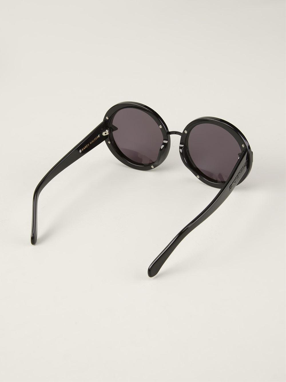 693556d85361 Lyst - Karen Walker Orbit Filigree Sunglasses in Black
